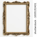 classic mirror frame on white... | Shutterstock . vector #1035152431