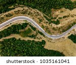 aerial above view of a rural... | Shutterstock . vector #1035161041