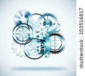 set of gears wheels  industrial ... | Shutterstock . vector #103516817