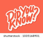 did you know  vector lettering.. | Shutterstock .eps vector #1035168901