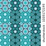 seamless pattern tiled ornament.... | Shutterstock .eps vector #1035172195