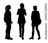 vector silhouettes women... | Shutterstock .eps vector #1035176944