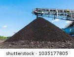 coal stacker and coal reclaimer ... | Shutterstock . vector #1035177805