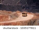 big dump truck or mining truck... | Shutterstock . vector #1035177811