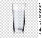 realistic transparent glass... | Shutterstock .eps vector #1035186097