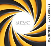 black and yellow abstract swirl ... | Shutterstock .eps vector #1035188131