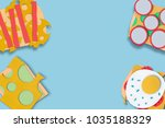 fast food background concept... | Shutterstock . vector #1035188329