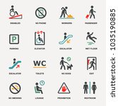 vector set of international... | Shutterstock .eps vector #1035190885