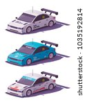 Vector Low Poly Touring Racing...