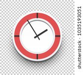 classic wall clock icon for... | Shutterstock .eps vector #1035193051