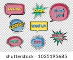 set of speech bubbles on the... | Shutterstock .eps vector #1035195685