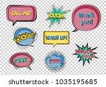 set of speech bubbles on the... | Shutterstock .eps vector #1035195685