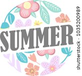 summer floral blossom flower... | Shutterstock .eps vector #1035200989