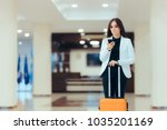 elegant business woman with... | Shutterstock . vector #1035201169
