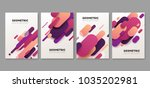 set of abstract geometric... | Shutterstock .eps vector #1035202981