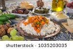 ifthar evening meal for ramadan  | Shutterstock . vector #1035203035