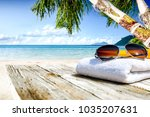 table background of free space... | Shutterstock . vector #1035207631