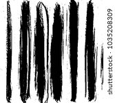 abstract grunge grid stripe... | Shutterstock .eps vector #1035208309
