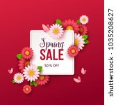 spring sale background with... | Shutterstock .eps vector #1035208627