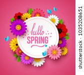 colorful spring background with ... | Shutterstock .eps vector #1035208651