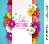 Colorful Spring Background Wit...