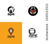 ape logo design | Shutterstock .eps vector #1035212521
