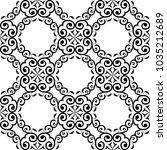 black floral design on white... | Shutterstock .eps vector #1035212689