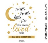 twinkle twinkle little star... | Shutterstock .eps vector #1035216691