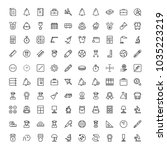 university icon set. collection ... | Shutterstock .eps vector #1035223219