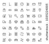online shopping flat icon set.... | Shutterstock .eps vector #1035224005