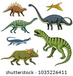 dinosaurs set  tyrannosaurus... | Shutterstock .eps vector #1035226411