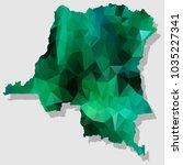 map congodr map each city... | Shutterstock .eps vector #1035227341