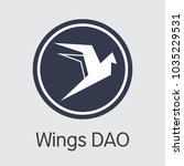 wings dao   colored logo of... | Shutterstock .eps vector #1035229531