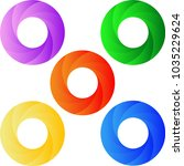 set of 5 colorful twisted...   Shutterstock .eps vector #1035229624