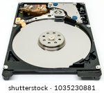 close up of hard disk drive... | Shutterstock . vector #1035230881