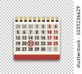 flip calendar icon with a... | Shutterstock .eps vector #1035236629