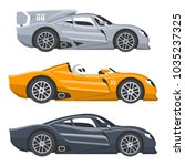 sport race car vector speed... | Shutterstock .eps vector #1035237325