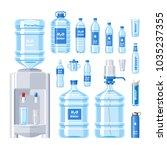 water bottle vector water drink ... | Shutterstock .eps vector #1035237355