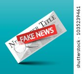 fake news vector icon with... | Shutterstock .eps vector #1035239461