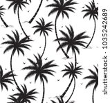 tropical palm leaves trees... | Shutterstock .eps vector #1035242689
