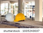 safety helmets for workplace... | Shutterstock . vector #1035243037