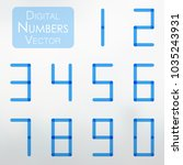 digital number collection in... | Shutterstock .eps vector #1035243931