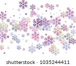 snowflake and circle elements... | Shutterstock .eps vector #1035244411