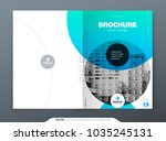 brochure template layout design.... | Shutterstock .eps vector #1035245131
