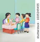 illustration of clinic | Shutterstock . vector #1035245455