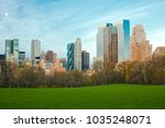 sheep meadow at central park... | Shutterstock . vector #1035248071