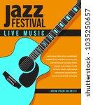 print jazz music concert ... | Shutterstock .eps vector #1035250657
