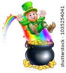 a cute st patricks day...   Shutterstock .eps vector #1035254041