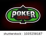 texas holdem poker emblem on... | Shutterstock . vector #1035258187