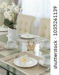 setting dining table | Shutterstock . vector #1035261139